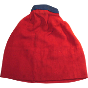 Antique Red Wool Doll Slip