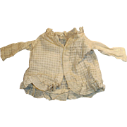 Antique White Cotton And Lace Hand Stitched Doll Jacket