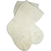 Vintage 1950s White Cotton Baby Doll Socks