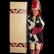 "12"" Vintage Skookum Bully Good Indian Cheif Doll USA MIB"