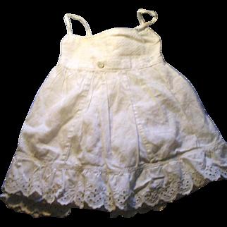 Antique White Cotton Three Piece Button Together Doll Underwear