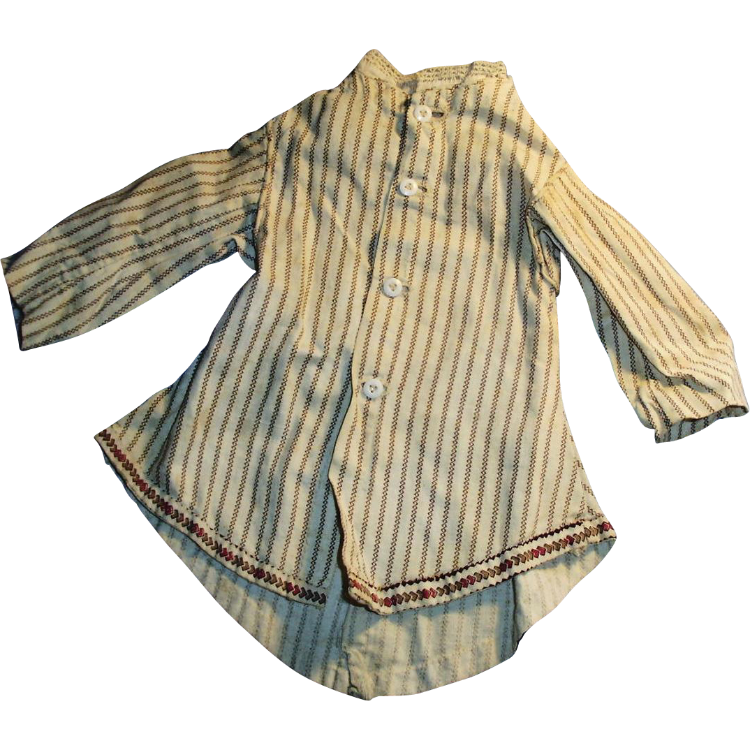 Antique Cotton Calico Fitted Fashion Doll Jacket