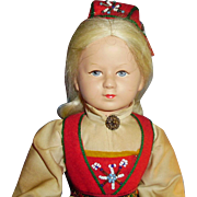 12 Inch Ronnaug Pettersen Norway Doll In Original Clothes Tag Vere Merke