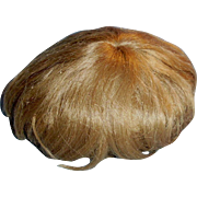 Antique Light Brown German Mohair Baby Doll Wig