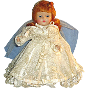 Vintage Red Hair Vogue Strung Ginny Bride Doll