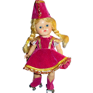 Vintage HP Strung Vogue Ginny Doll In Tagged Skater Outfit