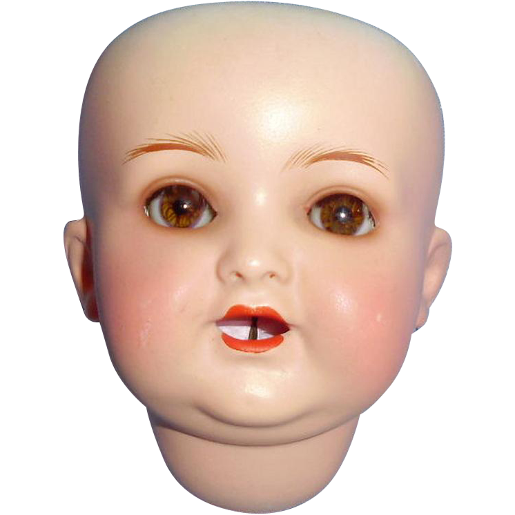 Cuno And Otto Dressel Antique German Bisque Doll Head