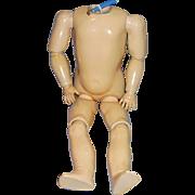 "17"" Antique Kestner German Ball Jointed Doll Body"