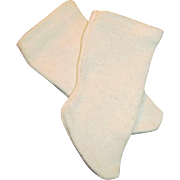 Antique White Cotton Commercial Doll Socks