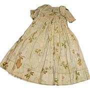 Antique Floral Print High Waist Cotton Doll Dress