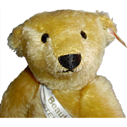 Vintage 1996 UFDC Ltd Convention Steiff Mohair Teddy Bear