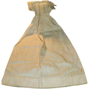 Long Antique White Cotton 1800s Baby Doll Dress
