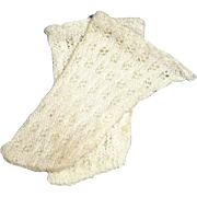 Antique White Cotton Lacy Small Doll Socks