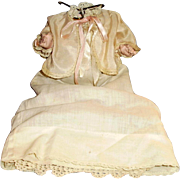 Antique German Dressed Composition Five Piece Bent Limb Baby Doll Body