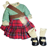 Vintage 1930 Original Madame Alexander Scottish Doll Outfit