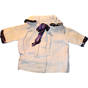 Antique White Crepe And Silk Doll Jacket