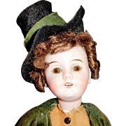 11 In Antique German Gebruder Kuhnlenz 44 Bisque Head Doll