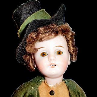 11 In Antique German Gebruder Kuhnlenz 44 Bisque Head Doll