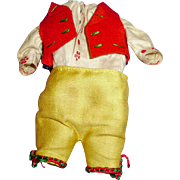 Small Antique Three Piece Boy Doll Outfit