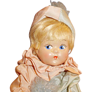 Vintage Composition Tagged Vogue Toddles Dressed Clown Doll