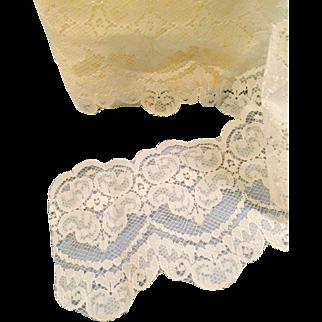 Vintage White Scallop Edge Machine Lace
