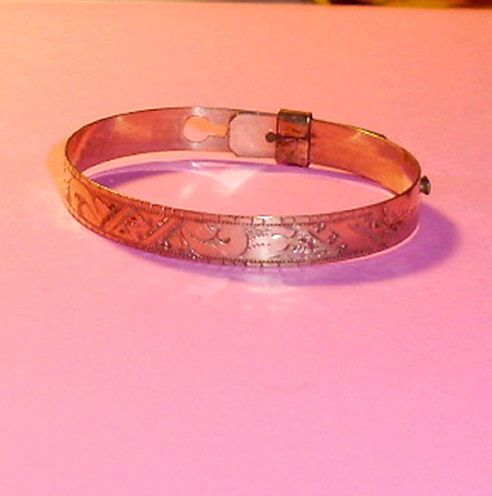 1800's Doll Size Gold Color Victorian Doll Bracelet