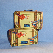 Cardboard Small Doll Dollhouse Luggage Made in Japan