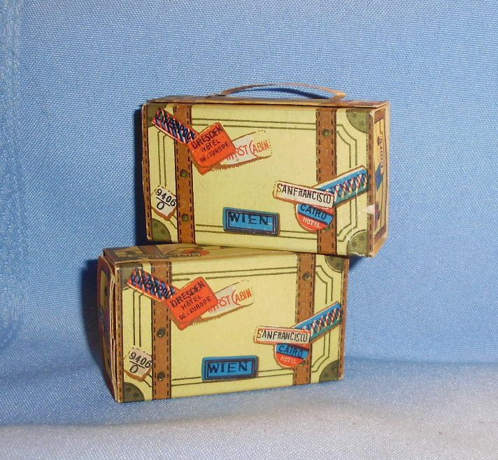 Cardboard Small Doll Dollhouse Luggage Made in Japan