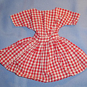 Red and White Gingham Cotton Doll Dress