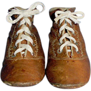 "4"" Brown Leather Lace Up Boots"
