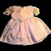 Vintage 1950's Pink Taffeta Satin and Net Doll Dress