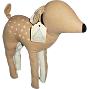 Unusual Fawn Deer By Agnes Brush with Original Hang Tag - Red Tag Sale Item