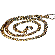Antique 12 K Gold Filled Watch Chain