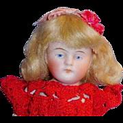 Antique German 5 Inch All Bisque Doll