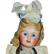 Antique French Bisque Head UNIS France 60 Doll