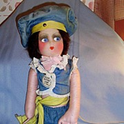 1927 Black Bottom Vamp Boudoir Bed Cloth Doll