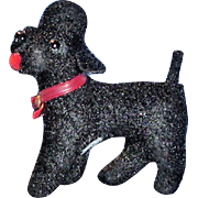 Vintage Small Black Poodle for Doll Accessory