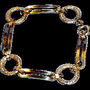 Antique Victorian 12K Gold Filled Link Bracelet