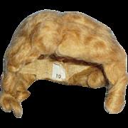 1930s Dark Blond Mohair Doll Wig Size 10