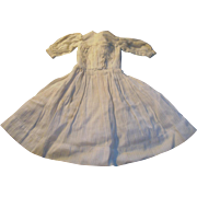 1890s Small Off White Cotton Shirtwaist Doll Dress