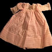 1910 Pink Cotton Puff Sleeve Doll Dress
