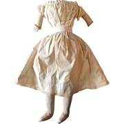 Antique 18 inch Cloth China Doll Body signed Cora M Streeter