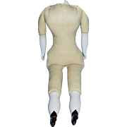 19 Inch 1890 Cloth and China Doll Body Size 8