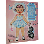 Vintage 1960s Lucy Locket Merrill Paper Doll Book Illustrated by Charlot Byi - Red Tag Sale Item