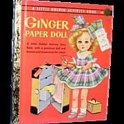 Vintage 1957 Ginger Paper Doll Little Golden Book Uncut