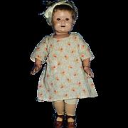 Antique 1911 Wooden Jointed 17 Inch Sleep Eye Schoenhut  Doll