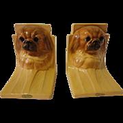 Vintage Mortens Studios Pekingese Dog Bookends