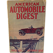 1920 American Automobile Digest Magazine
