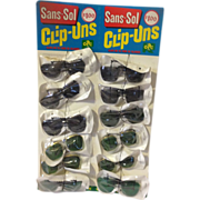 Vintage Store Display of Clip on Sunglasses