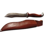 Vintage Cutco Hunting knife & leather sheath- no- 1065